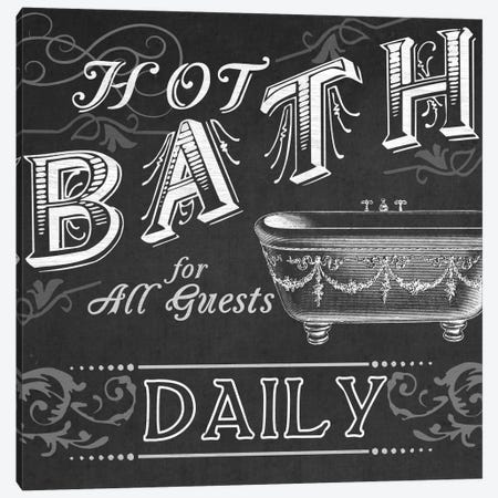 Chalkboard Bath Signs II Canvas Print #JEV376} by June Erica Vess Art Print
