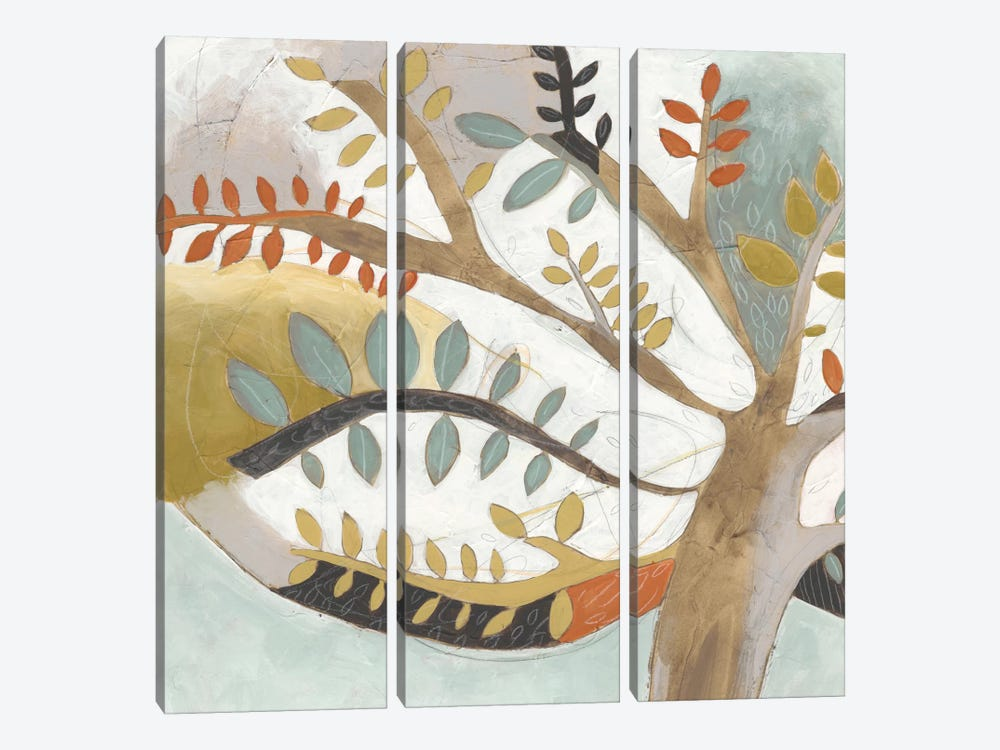 Arbor Whimsy I by June Erica Vess 3-piece Canvas Artwork