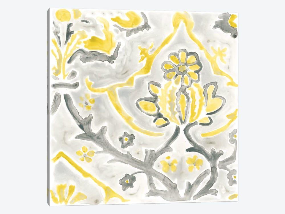 Citron Damask Tile I by June Erica Vess 1-piece Canvas Print
