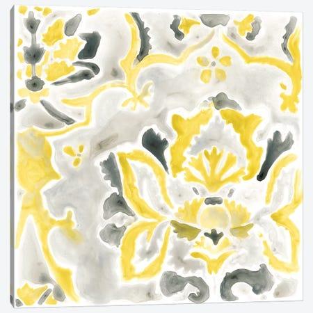 Citron Damask Tile III Canvas Print #JEV385} by June Erica Vess Canvas Art