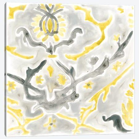 Citron Damask Tile VI Canvas Print #JEV388} by June Erica Vess Canvas Print