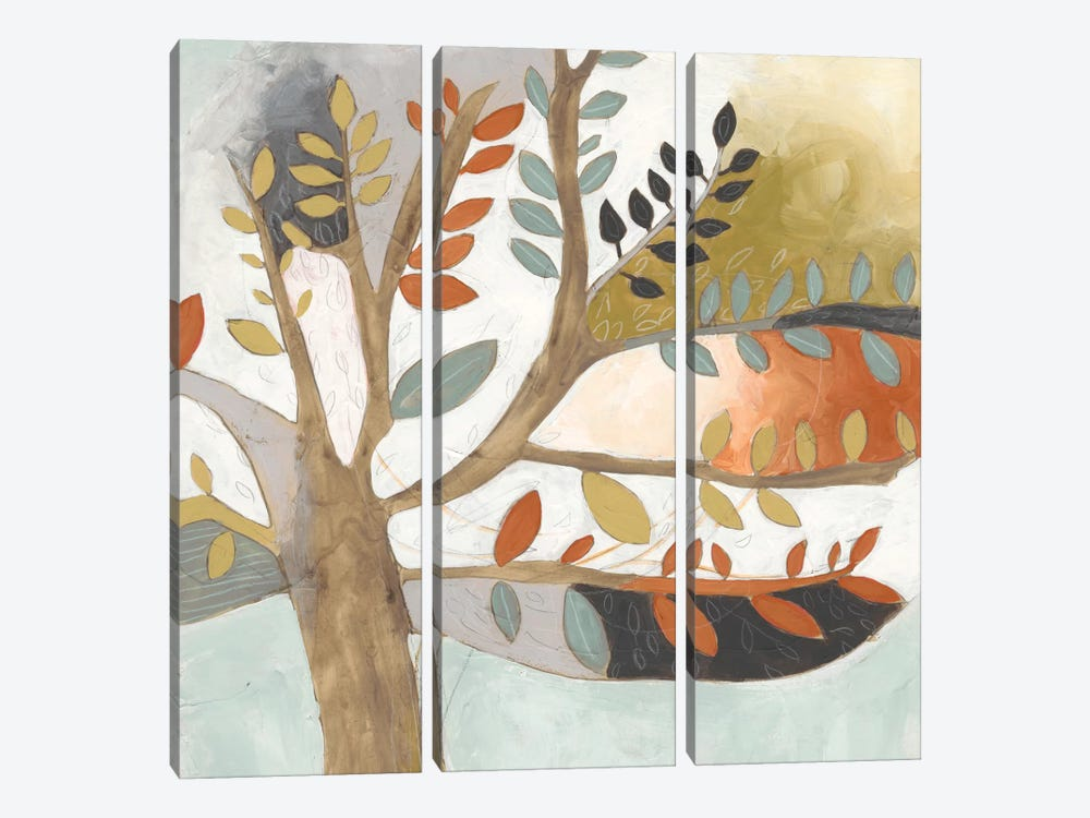 Arbor Whimsy II by June Erica Vess 3-piece Canvas Print