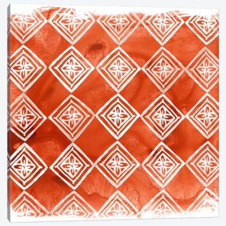 Crimson Motif I Canvas Print #JEV395} by June Erica Vess Canvas Print