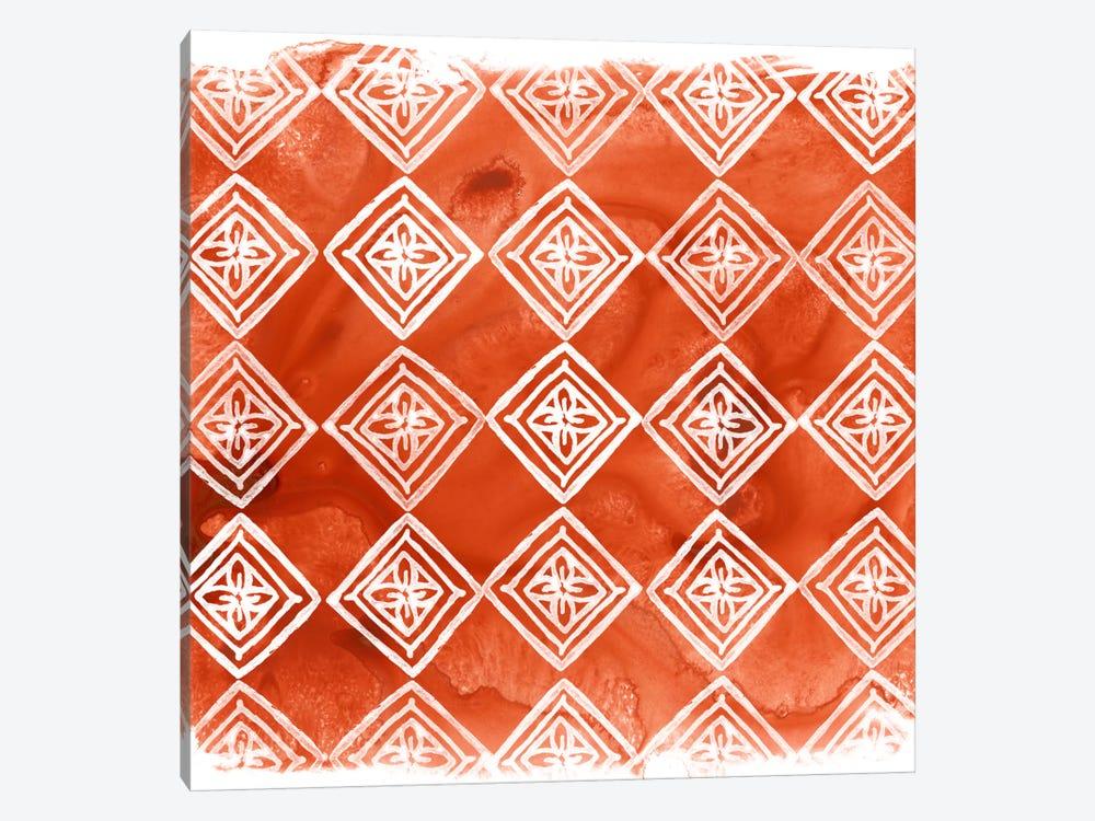 Crimson Motif I by June Erica Vess 1-piece Canvas Artwork
