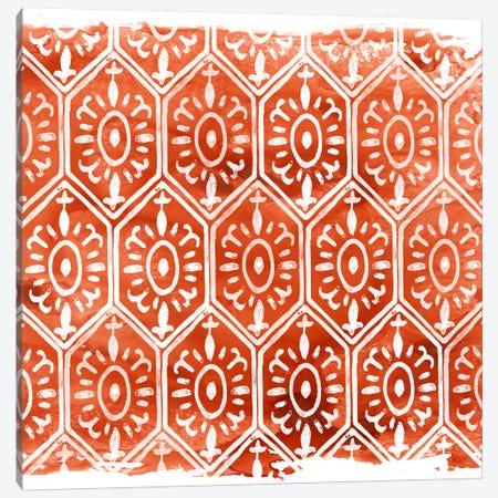 Crimson Motif II 3-Piece Canvas #JEV396} by June Erica Vess Canvas Art Print