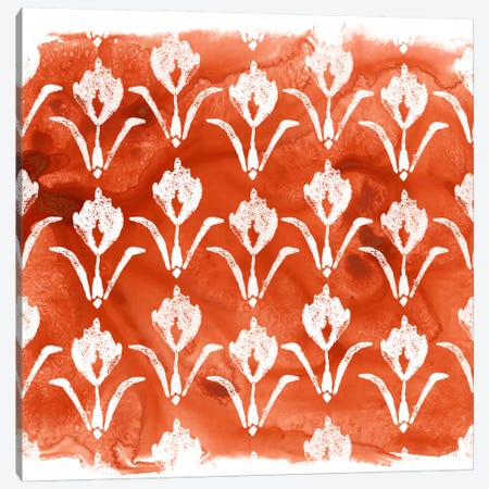 Crimson Motif V Canvas Print #JEV399} by June Erica Vess Canvas Wall Art