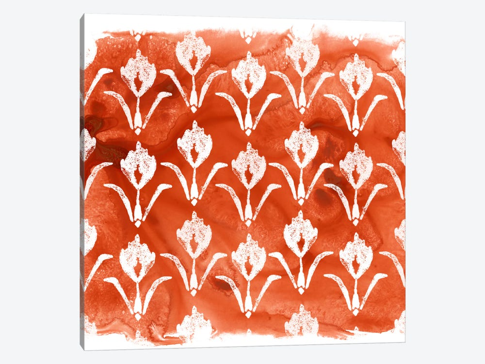 Crimson Motif V by June Erica Vess 1-piece Canvas Wall Art