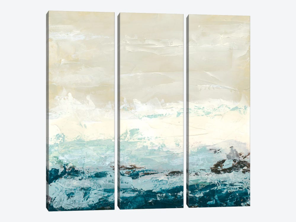 Coastal Currents I by June Erica Vess 3-piece Canvas Art Print