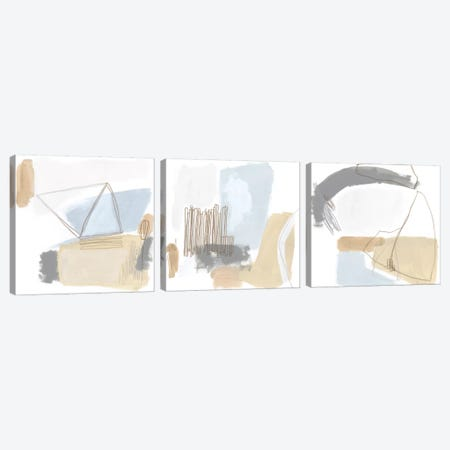 Overture Triptych Canvas Print Set #JEV3HSET003} by June Erica Vess Canvas Art