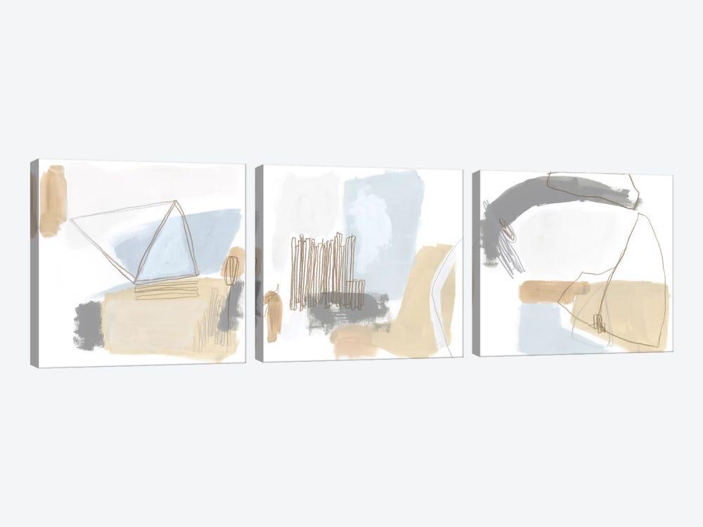 Overture Triptych by June Erica Vess 3-piece Canvas Art Print