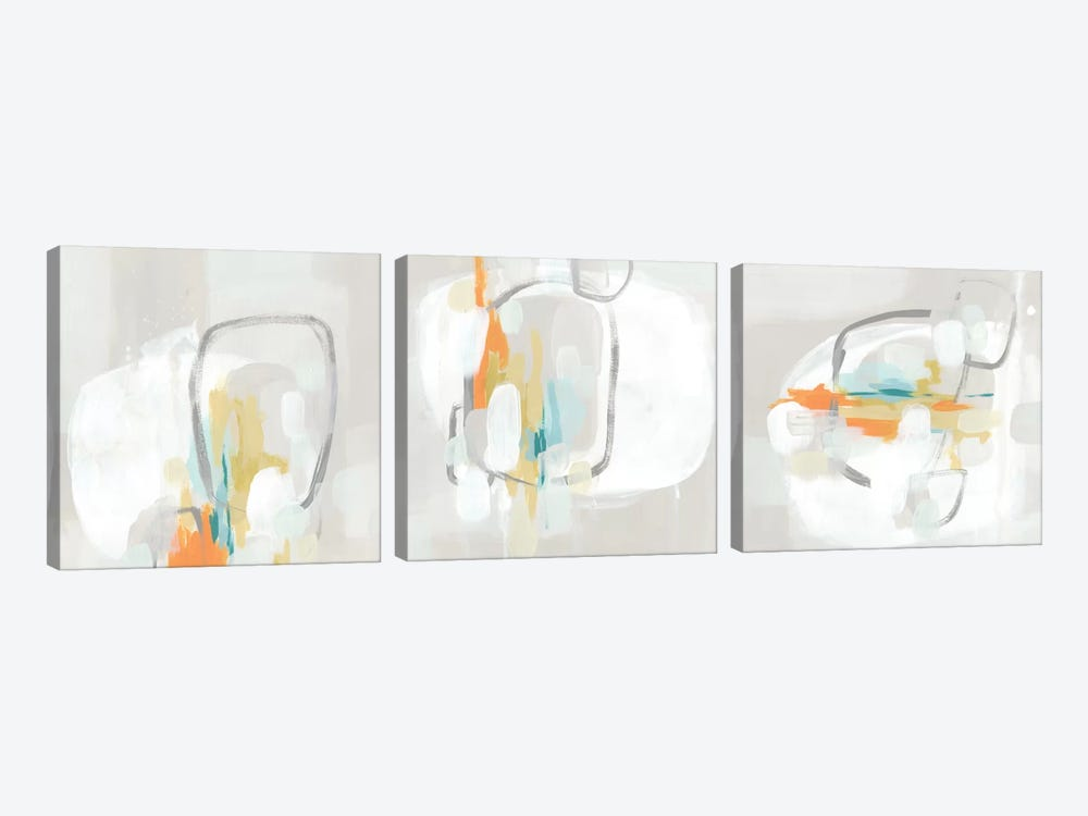 Stereo Fade Triptych by June Erica Vess 3-piece Canvas Art