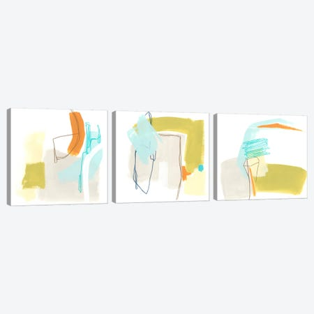 Adagio Triptych Canvas Print Set #JEV3HSET005} by June Erica Vess Art Print