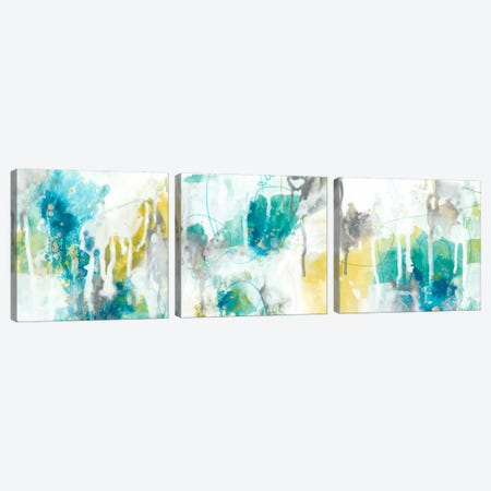 Aquatic Atmosphere Triptych Canvas Print Set #JEV3HSET006} by June Erica Vess Canvas Print