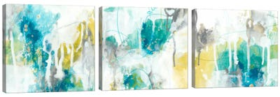 Aquatic Atmosphere Triptych Canvas Art Print