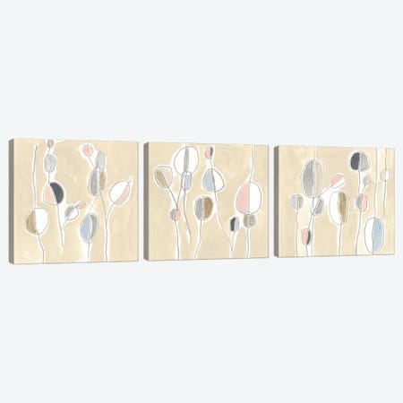 String Garden Triptych Canvas Print Set #JEV3HSET009} by June Erica Vess Canvas Art