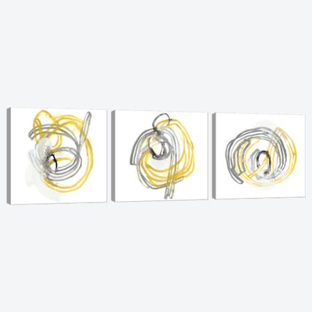 String Orbit Triptych Canvas Print Set #JEV3HSET010} by June Erica Vess Art Print