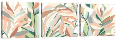 Soft Tropicals Triptych Canvas Art Print
