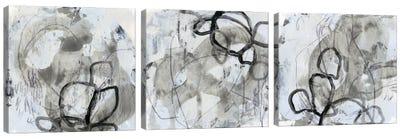 Neutral Swipe Triptych Canvas Art Print