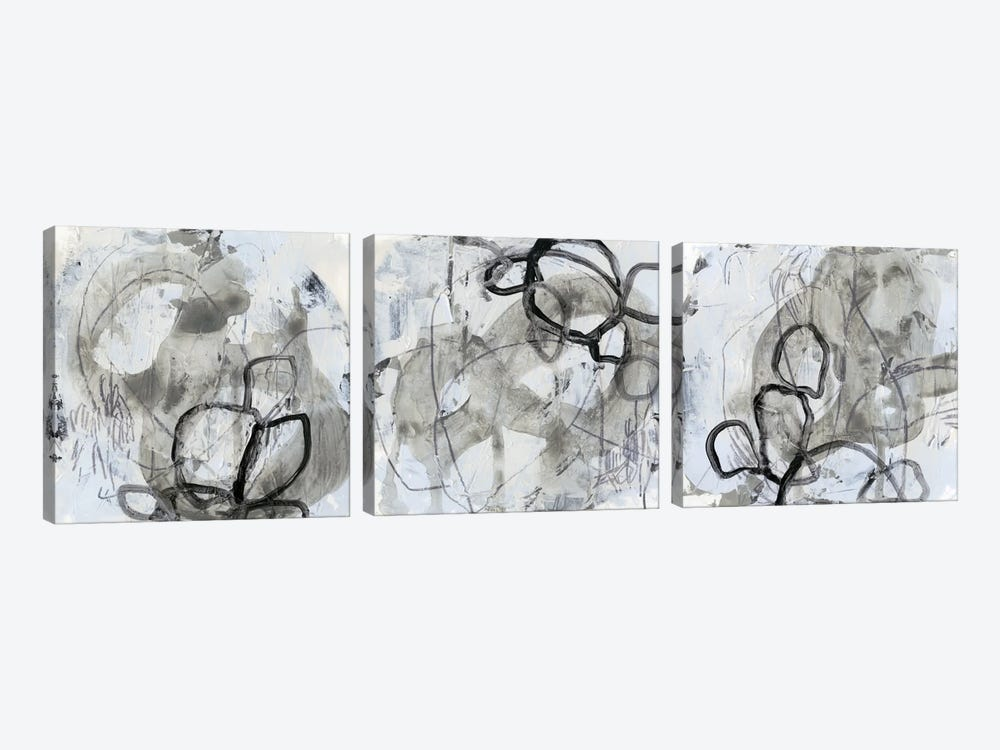 Neutral Swipe Triptych by June Erica Vess 3-piece Canvas Artwork