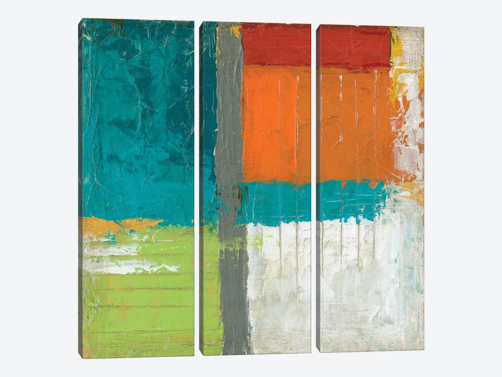 Urban Impact I by June Erica Vess 3-piece Canvas Art