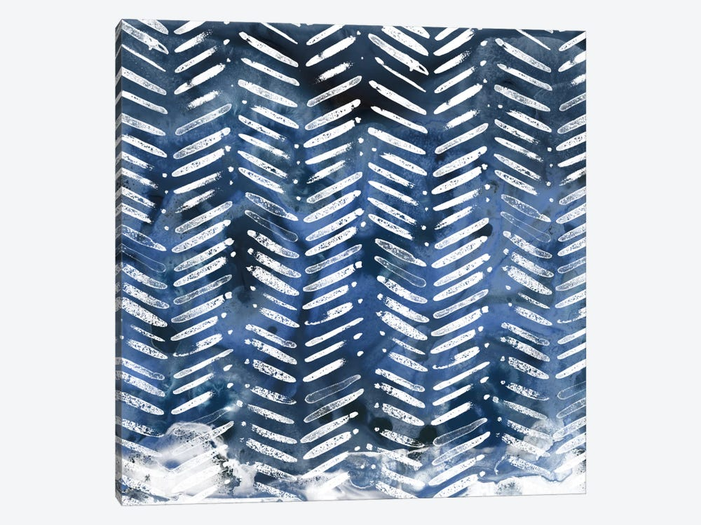 Indigo Impression IX 1-piece Canvas Print