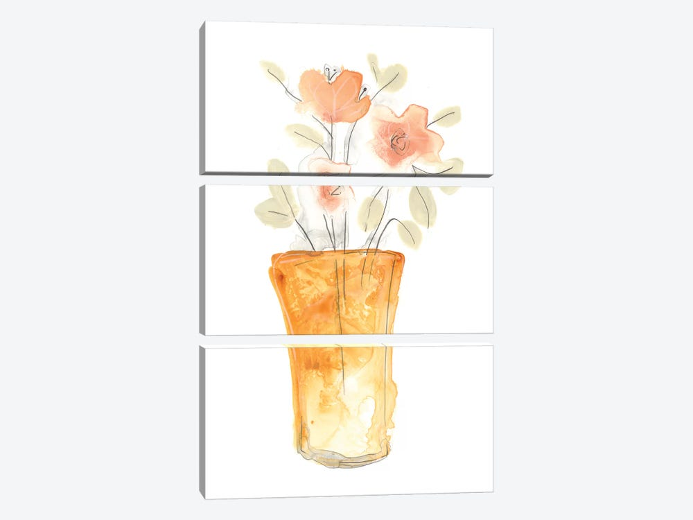 Blossom Pop Study I by June Erica Vess 3-piece Canvas Art Print