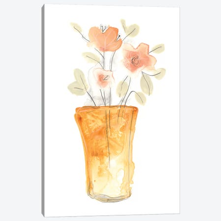 Blossom Pop Study I Canvas Print #JEV468} by June Erica Vess Canvas Artwork