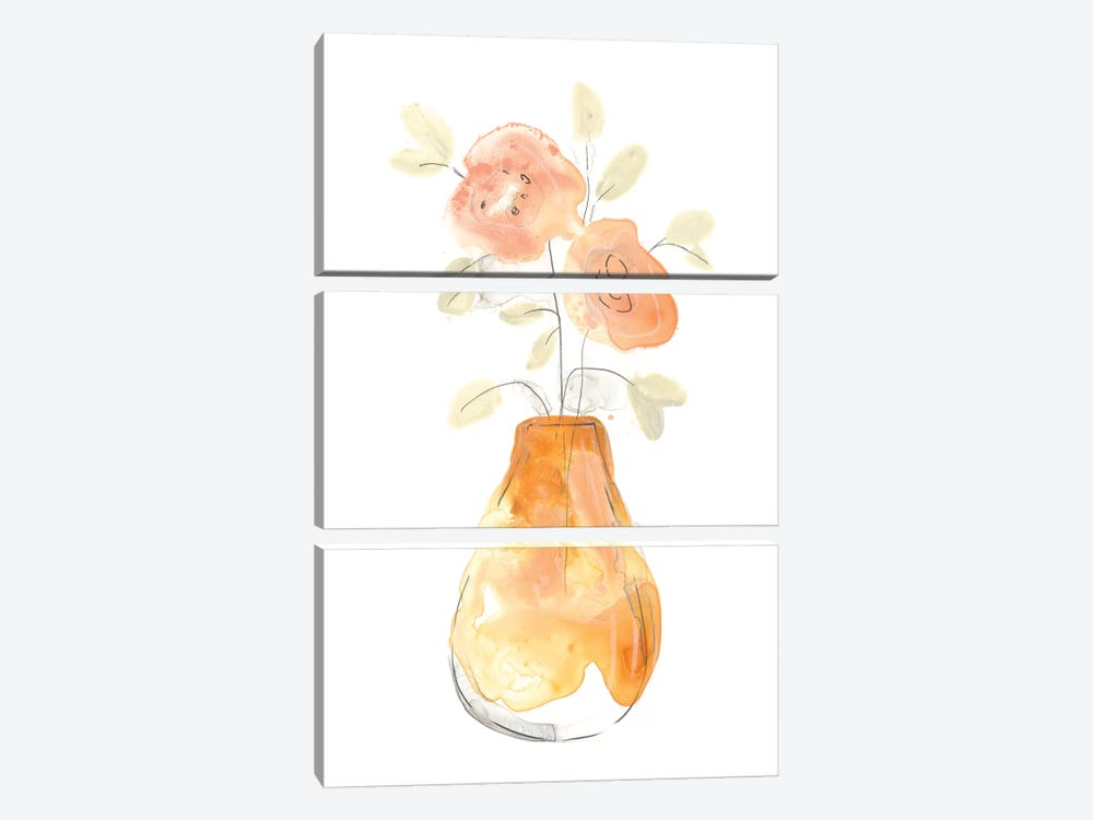 Blossom Pop Study II by June Erica Vess 3-piece Canvas Artwork