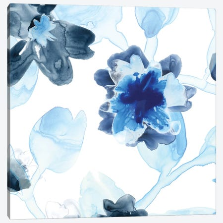 Blue Gossamer Garden I Canvas Print #JEV470} by June Erica Vess Art Print