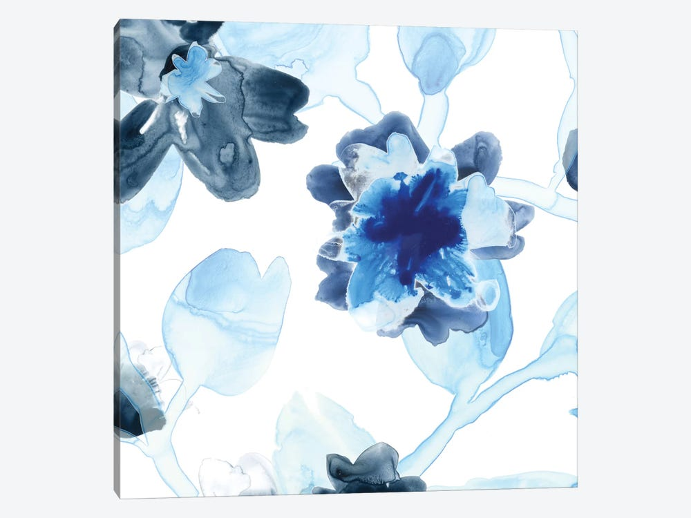 Blue Gossamer Garden I by June Erica Vess 1-piece Canvas Artwork