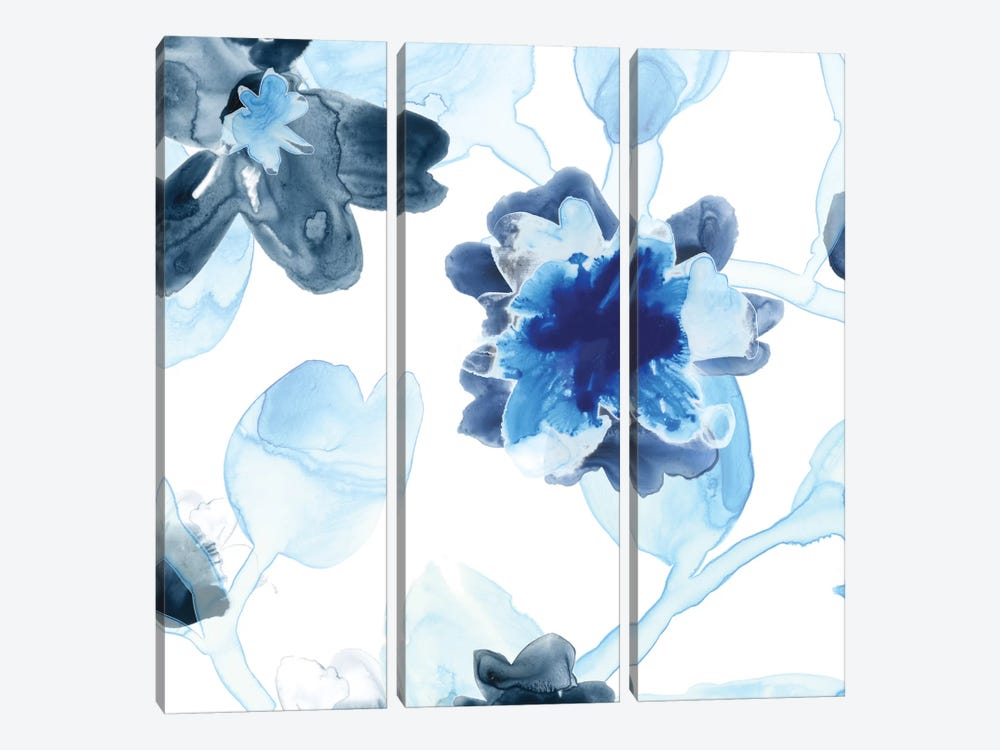 Blue Gossamer Garden I by June Erica Vess 3-piece Canvas Art