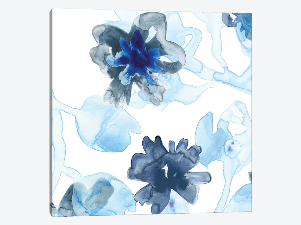 Blue Gossamer Garden II 1-piece Canvas Art Print
