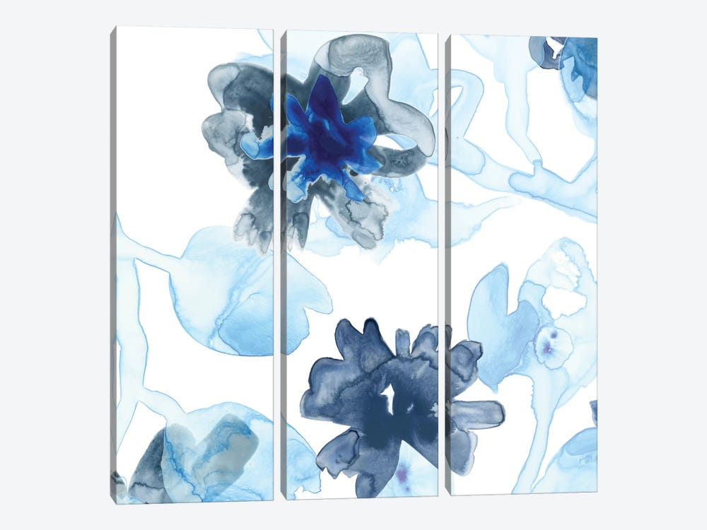 Blue Gossamer Garden II by June Erica Vess 3-piece Canvas Art Print