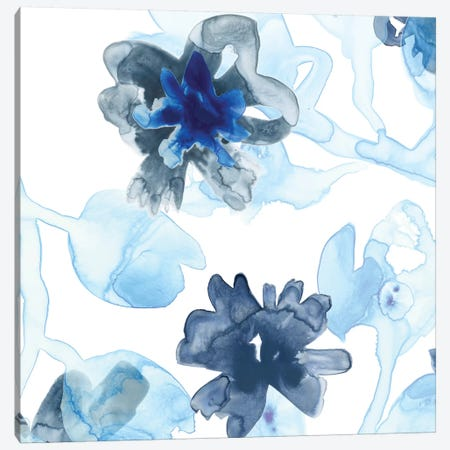 Blue Gossamer Garden II Canvas Print #JEV471} by June Erica Vess Art Print