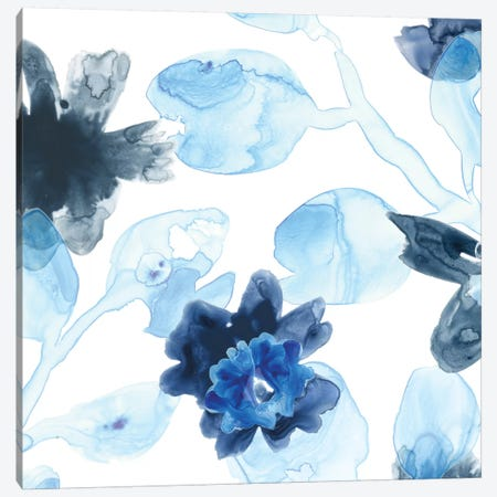 Blue Gossamer Garden IV Canvas Print #JEV473} by June Erica Vess Canvas Print