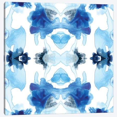 Blue Kaleidoscope I Canvas Print #JEV475} by June Erica Vess Canvas Wall Art