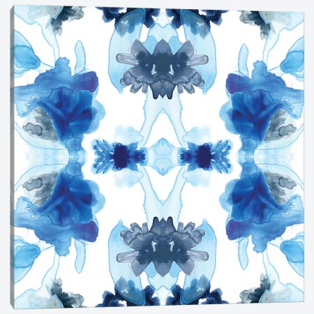 Blue Kaleidoscope II Canvas Print #JEV476} by June Erica Vess Canvas Artwork