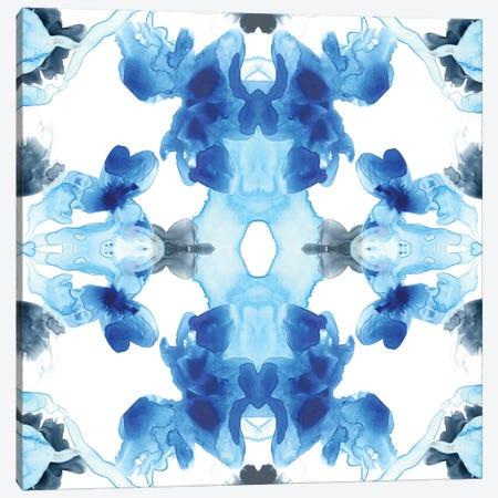 Blue Kaleidoscope III Canvas Print #JEV477} by June Erica Vess Canvas Artwork
