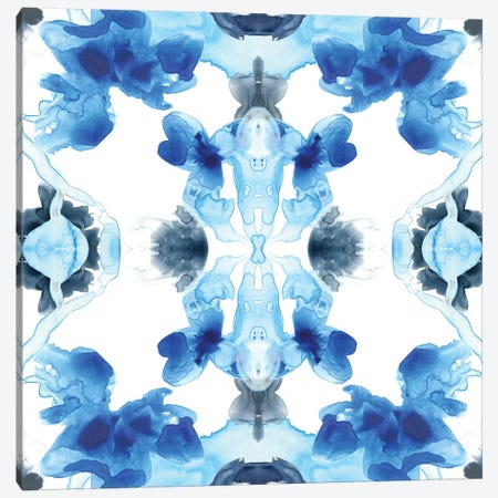 Blue Kaleidoscope IV Canvas Print #JEV478} by June Erica Vess Art Print
