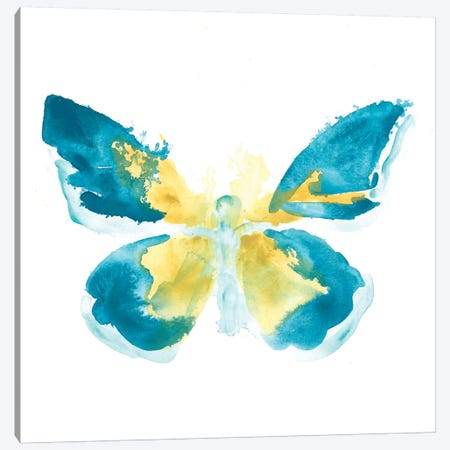 Butterfly Traces I Canvas Print #JEV488} by June Erica Vess Canvas Art