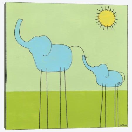 Elephant II Canvas Print #JEV48} by June Erica Vess Canvas Artwork
