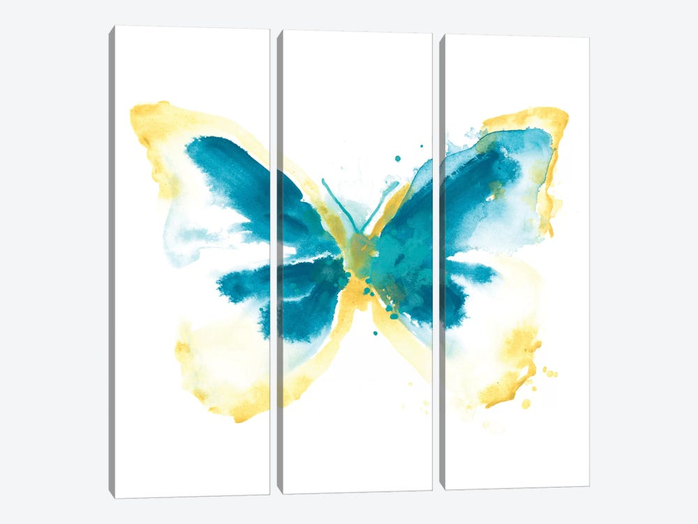 Butterfly Traces III by June Erica Vess 3-piece Canvas Artwork