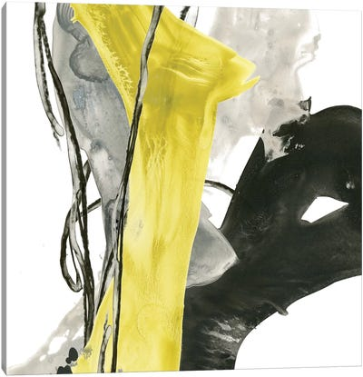 Citron Flux I Canvas Art Print