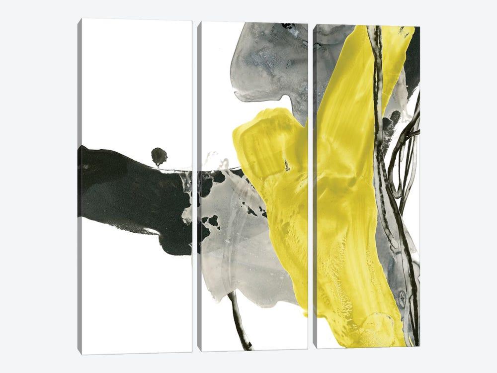 Citron Flux II by June Erica Vess 3-piece Canvas Art Print