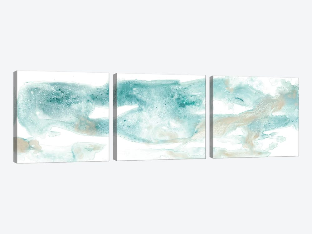 Coastal Inlet I by June Erica Vess 3-piece Canvas Artwork