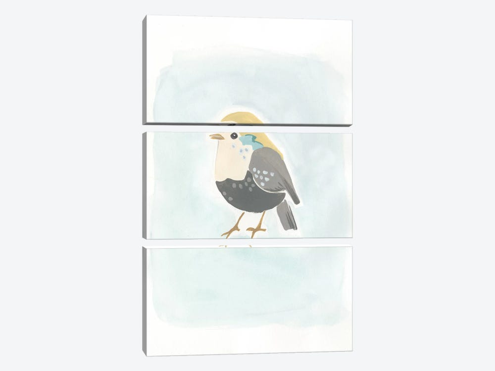 Dapper Bird II by June Erica Vess 3-piece Canvas Print
