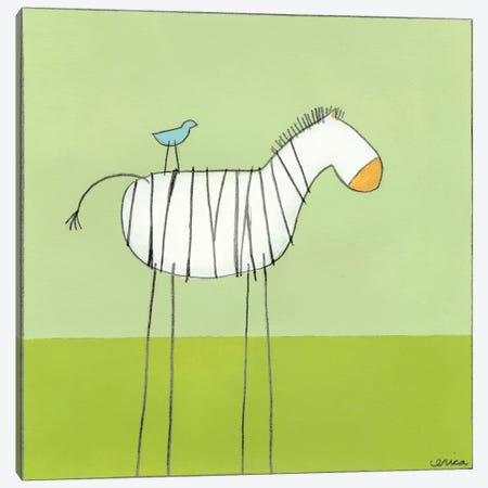 Zebra I Canvas Print #JEV49} by June Erica Vess Canvas Wall Art