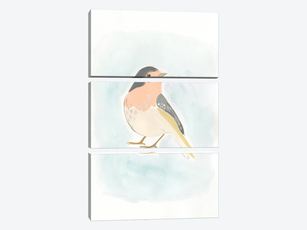 Dapper Bird III by June Erica Vess 3-piece Canvas Wall Art