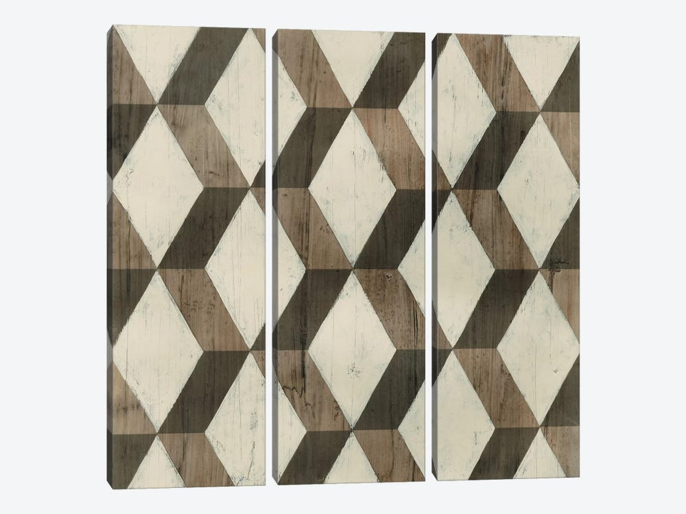Driftwood Geometry I by June Erica Vess 3-piece Art Print