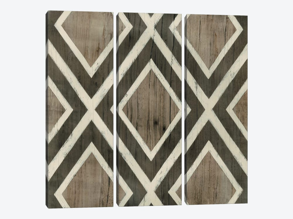 Driftwood Geometry II by June Erica Vess 3-piece Canvas Artwork